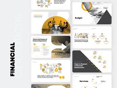Financial Operations finance business powerpoint design pitchdeck presentation design start up branding design illustration infographic design corporate infographics