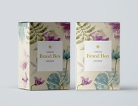 Brand box packing with watercolor flowers