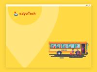 School Bus Splash Screen