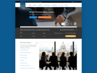 Legal Corporate Landing Page