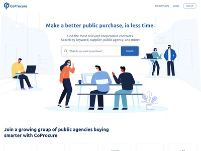 Coprocare Landing Page