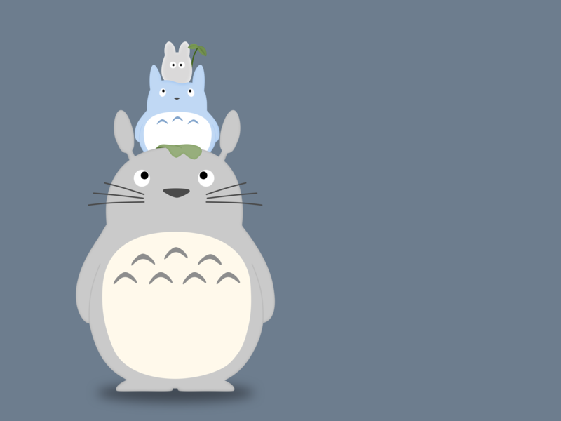 Stacked Totoros vector totoro character cartoon illustration