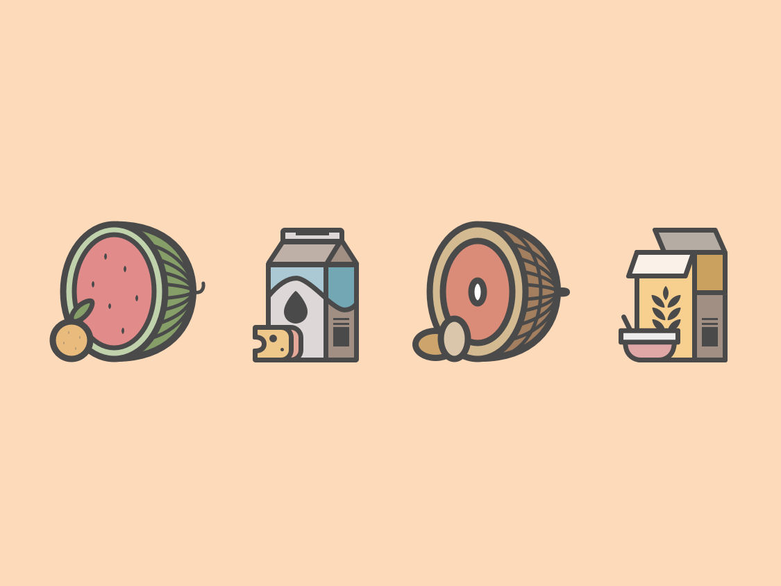 Food Icons illustration food and beverage iconography