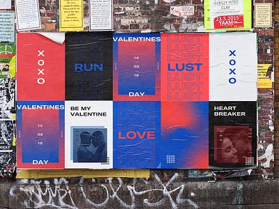 Modern Day Valentine's typography design poster