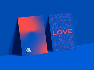 Modern Day Valentine's V2 branding design poster