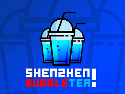 Shenzhen Bubble Tea Logo graphicdesigner logodesigner logocore logodesign bubbletea logo