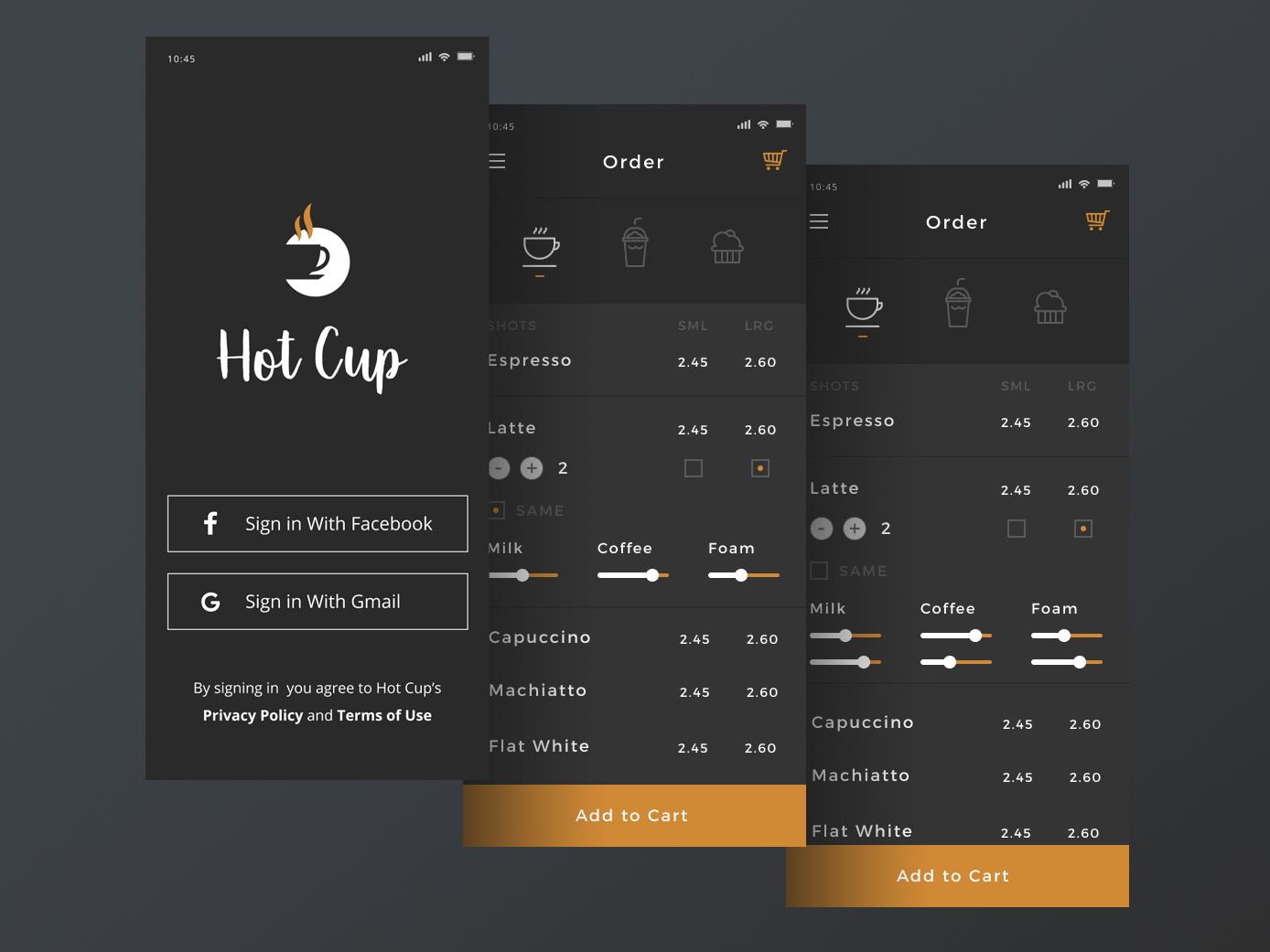 Hot cup coffee app