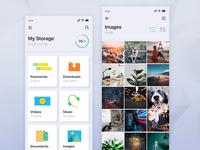 Weekly UI Challenge: Storage App Ui