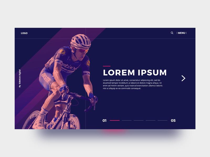 Bicycle Web Design Concept weekly challenge uiux web design bicycle