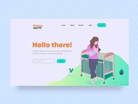 Babysitter search website design concept