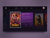 Weekly UI Challenge Tv App concept