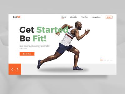 Getfit! Web design Concept