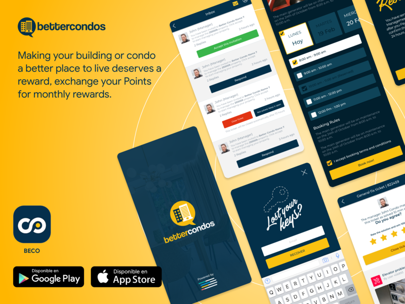 BECO APP: BetterCondos ux product design app ui