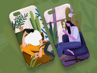 Pioneer illustration 插画、ui 休闲时间 绿植 扁平化 branding 人物 插画设计