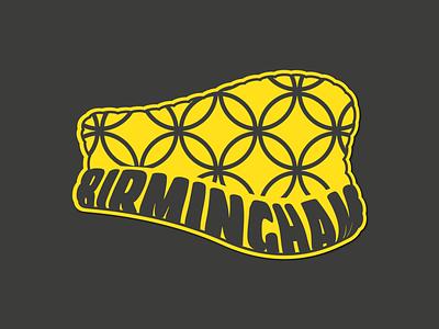 Birmingham, UK Sticker vector selfridges sticker typography illustration