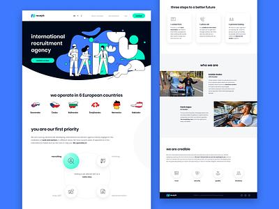 Web design - Recruitment agency website design ux design recruitment agency recruitment design branding illustration ux