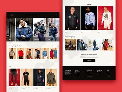 E-shop website design uxui ux menclothes minimalist webdesign ecommerce eshop