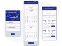 Material Design Airline booking ticket app