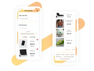 UI design - App checking if product price was changed flat design application app design iphonex mobile app ui