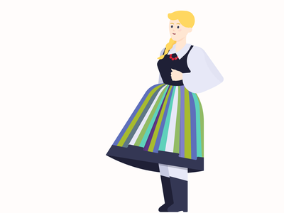 Folk costume woman illustration woman flat flat illustration flat design illustration folk costume folk