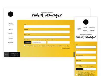 Recruitment form web design mobile webdesign webpage form recruitment