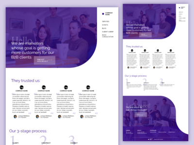Marketing agency webpage design