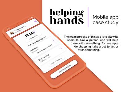 Mobile app case study mobile app ui ux design ui ux flat minimalistic app ui