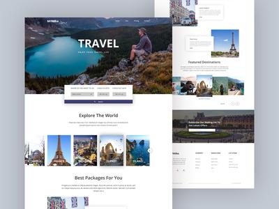 Landing Page - Travel website banner ux ui trip travel blog travel agency tour product plan landing  page creative booking.com app