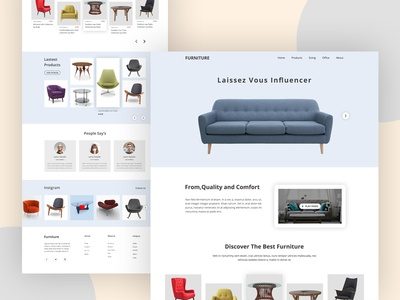 Furniture Website Home page