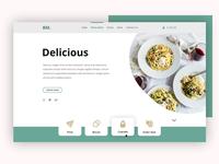 Restaurant Header Concept