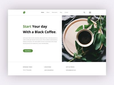 Coffee Express Heade webdesign ux design ux ui design ui roast interface homepage header concept coffee shop coffee cup clean ui coffee