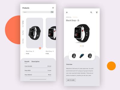 Watch Shop App watch uiux ui store shopping app shop minimalist minimal fashion ecommerce app ecommerce clean app add to cart accessories