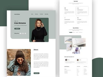 Home Page : Personal Portfolio web landing page user experience typogaphy personal portfolio contact services blockchain ux ui bitcoin money dashboad bank credit debit card payment agency business finance account management