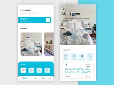 Smart Home App ux ui smart home app smart home minimal light lamp interior house home decoration clean app