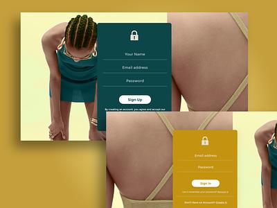 Login Form Page Design branding design ux adobe xd website design login form sign in form sign up form website template login form design