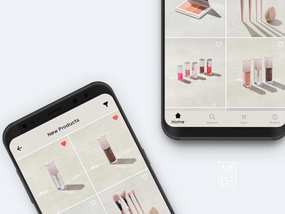 Shopping app figma mockup prototype mobile ui mobile app fashion app makeup shopping design