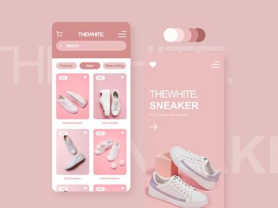 TheWhite Sneaker (E-commerce app) sneakerhead sneaker uxdesign uidesign ux app design prototype mockup figma mobile ui design app ui ecommerce shop ecommerce app mobile app mobile ui app design product design