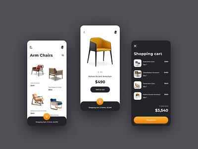 A Furniture sales app shopping cart shopping app shopping ecommerce design ecommerce shop ecommerce app ecommerce app design app furniture app furniture