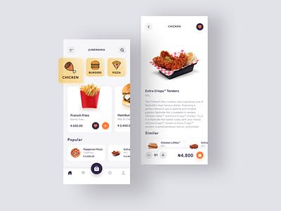Mobile Junk Shop foodie food app design food app ui food app food junk ux design ecommerce shop ecommerce app minimal mobile ui mobile design app ui mobile app