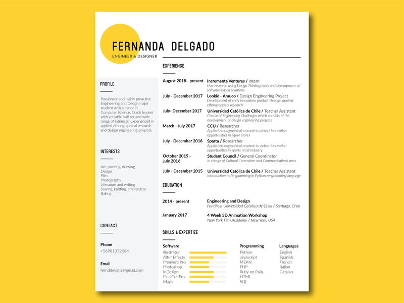Resume Design resume design resume cv cv editorial resume illustrator