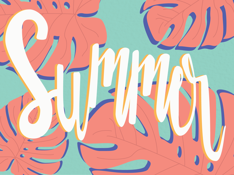 Summer Postcard typography illustrator art illustration vector art postcard lettering graphics design design illustrator