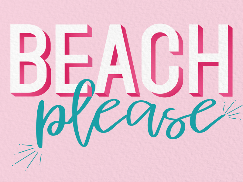 Beach, please digital lettering lettering typography vector vector art illustration design illustrator