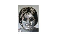 John Lennon pop art illustration pop art acrylic wood carving