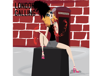 London Calling punkrock album cover design album artwork album cover album art print illustrator art art vector vector art design illustrator illustration
