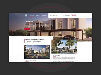 Property Landing Page webdesign animation landing page landing design ux ui property