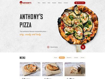Pizzeria Landing Page typography logo pizzeria pizza landing page landing webdesign illustration ux ui design