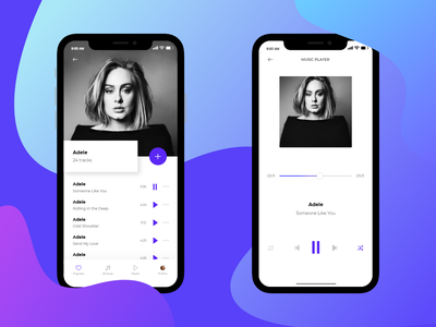 Music application typography mobile app mobile illustration applicaiton app design ux ui