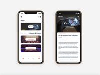 City guide app design