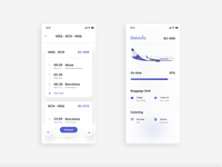 Plane booking app • route and flight details