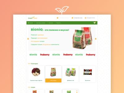 E-shop Design | Green-Food